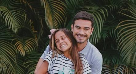 Myrella com o ator Sidney Sampaio