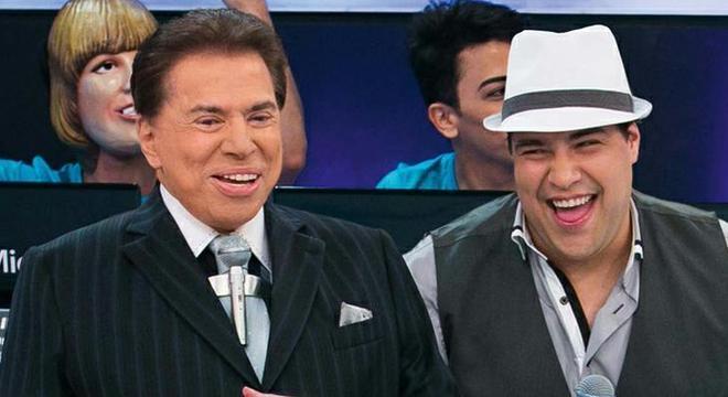 Silvio Santos e o Neto Tiago Abravanel
