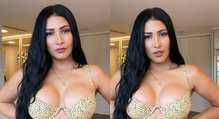 Simaria postou fotos de biquíni e fazendo carão em seu quarto