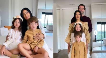 Simaria compartilha foto com o marido e os filhos