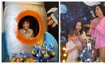 Simaria Mendes, que faz dupla com Simone, celebrou os 6 anos do filho Pawel com festa, neste sábado (11). A comemoração teve como tema a galáxia