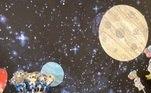 Simaria também mostrou a decoração, com direito a lua, estrelas e a inicial do nome de Pawel