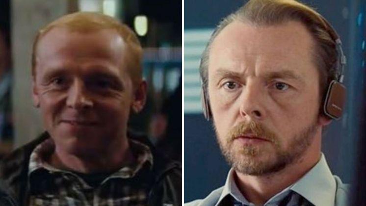 Simon Pegg é mais um que está presente na saga desde o início, interpretando Benji Dunn. Do primeiro filme ao último, é o que mais mudou e envelheceu esteticamente