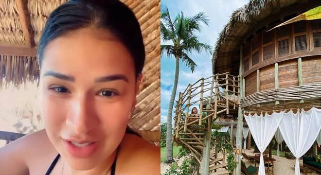 Cantora contou detalhes de viagem a resort de luxo, em Jericoacoara, no Ceará