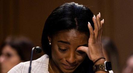 Biles chorou durante depoimento no Congresso dos EUA