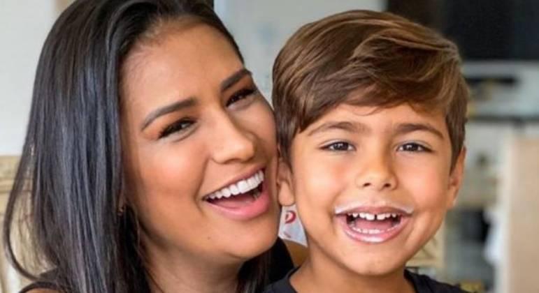 Simone Mendes é mãe de Henry, de 6 anos, e Zaya, de 2 meses