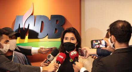 Na imagem, senadora Simone Tebet (MDB-MS)