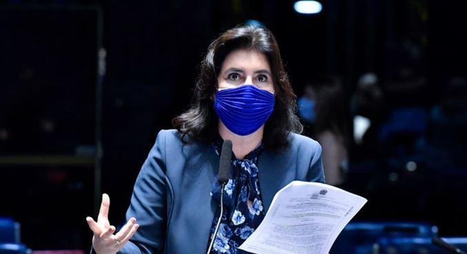 Líder da bancada feminina no Senado, Simone Tebet (MDB-MS)