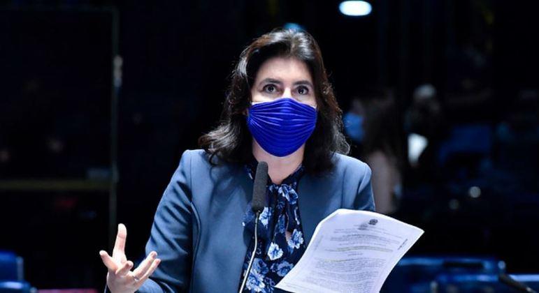 A senadora Simone Tebet: 'Homens e mulheres têm os mesmos direitos'
