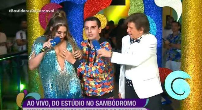 Polêmica aconteceu durante entrevista ao vivo no Sambódromo do Anhembi