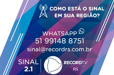 Whatsapp do sinal Record TV RS