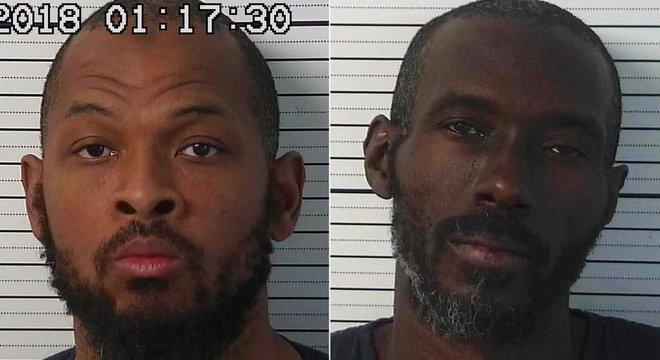 Os suspeitos detidos, Siraj Wahhaj (esq.) e Lucan Morton; Wahhaj era procurado por suspeita de ter raptado o filho de três anos