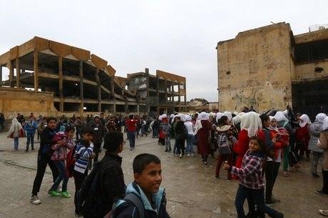 Crianças sírias necessitam de uma atenção maior