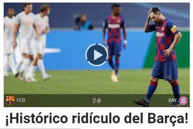 Site espanhol Sport: 'Histórico ridículo do Barça