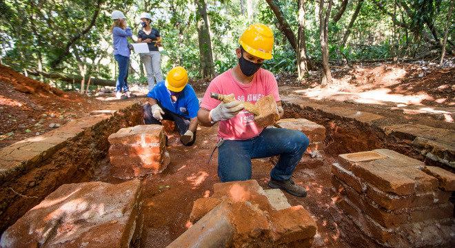 Parque Augusta se transformou num sítio arqueológico na capital paulista