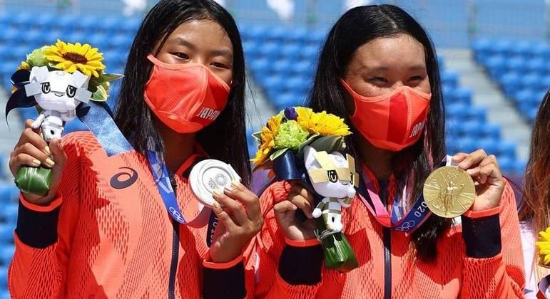Japão dominou as provas de skate street e park nos Jogos de Tóquio