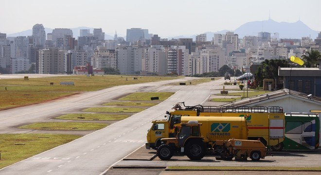Aeroporto de Congonhas ficou vazio com a crise do novo coronavírus