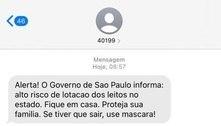 Governo de SP envia SMS de alerta à população sobre isolamento