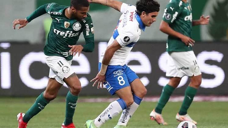 SOBE E DESCE DA CATÓLICA - O goleiro Pérez teve uma noite especial no Allianz Parque. Fez oito defesas difíceis e impediu que o time chileno fosse goleado na partida de volta das oitavas de final da Copa Libertadores. O melhor da Católica, disparado.