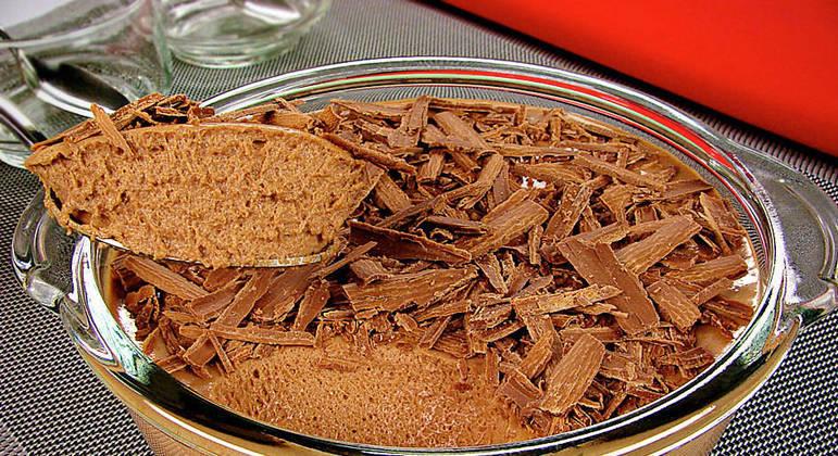 sobremesas com barra de chocolate