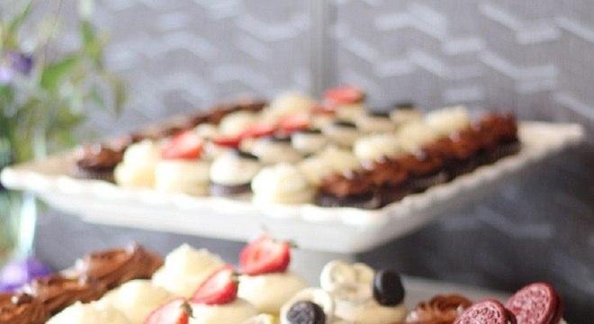 sobremesas personalizadas para mesa de guloseimas