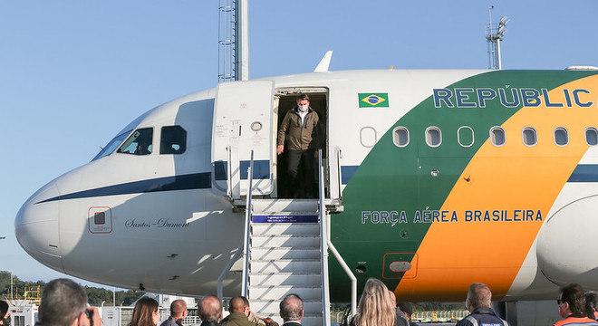 Bolsonaro chegou a Florianópolis nesta manhã