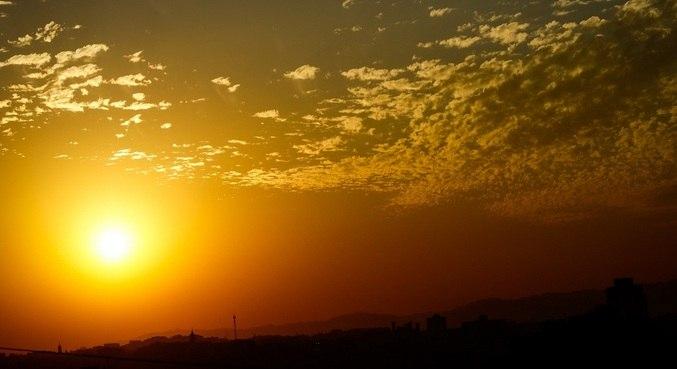 Massa de ar quente e seco pouco a pouco ganha força sobre todo o estado