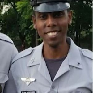 O soldado Leandro Martins