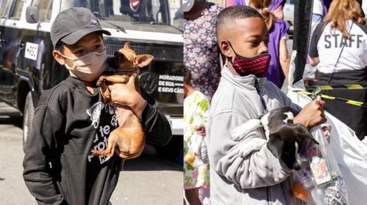 Movimento doa roupas e alimentos para população de rua e pets (Edu Leporo/Divulgação)