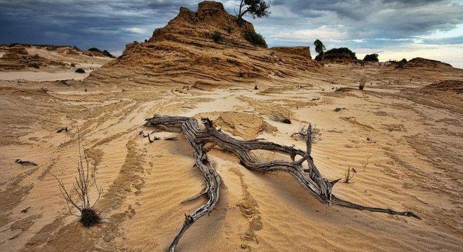 Boa parte das regiões australianas de New South Wales e Queensland estão áridas hoje