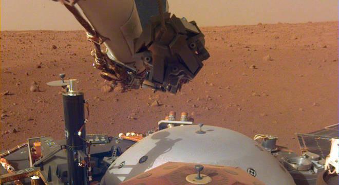 A sonda InSight pousou em solo marciano em 26 de novembro
