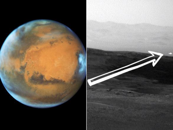 A sonda da NasaCuriosityregistrou uma luz branca inexplicável sobre a superfície de Marte