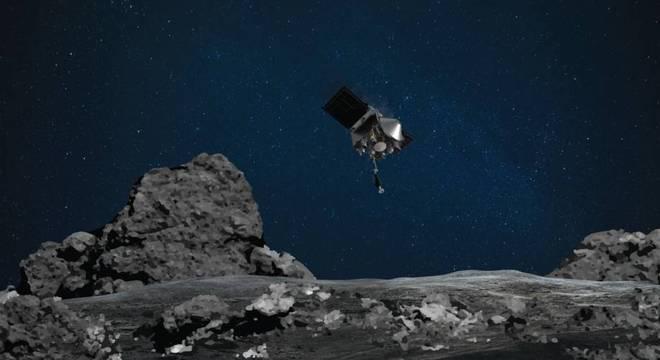 Sonda pode coletar pela primeira vez rochas em um asteroide no espaço