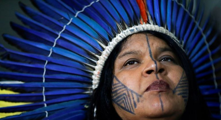 A líder indígena Sônia Guajajara