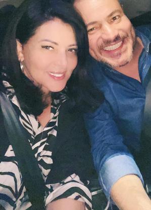 Sônia Lima e o novo namorado, Flávio Antunes