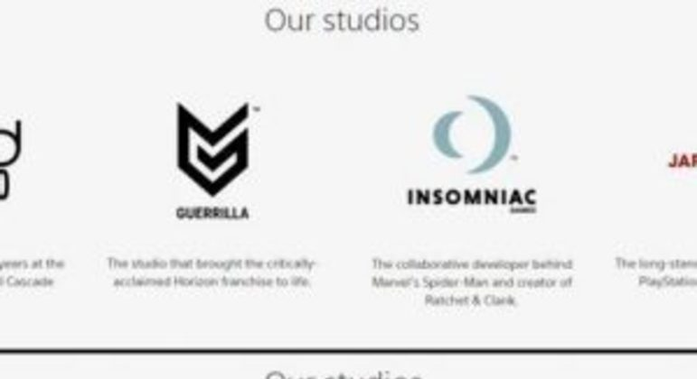 Sony remove o Japan Studio em site sobre o PlayStation Studios
