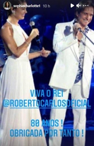 Sophie Charlotte e Roberto Carlos