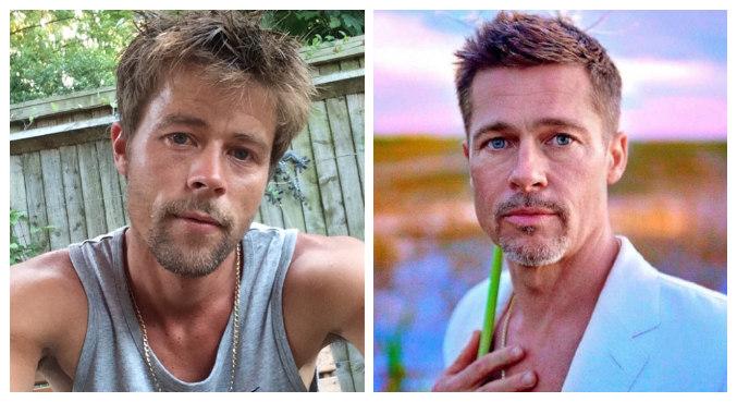 Sósia de Brad Pitt (à esquerda) diz ter dificuldade para encontrar namorada