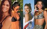 A Miss Brasil 2013 Jakelyne Oliveira, participante de A Fazenda 12, já ficou conhecida nas redes sociais como a 'Bruna Marquezine da Record'. Durante a estreia do reality na última terça (8), a peoa impressionou pela semelhança com a atriz. No entanto, ela não é a única 'irmã perdida' de Bruna pelo Brasil.Veja também:Jakelyne Oliveira vira meme ao ser comparada com Bruna Marquezine