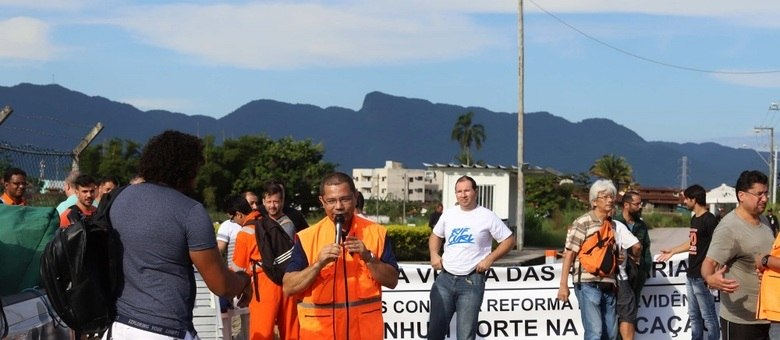 Petroleiros da Unidade de Tratamento de Gás de Caraguatatuba fizeram paralisação