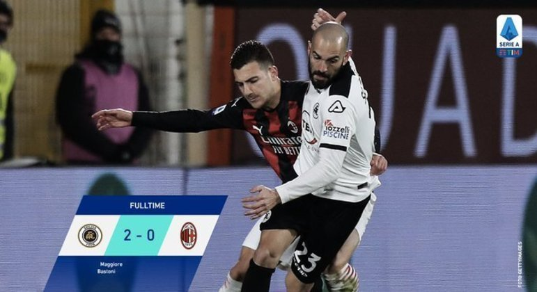 Spezia 2 X 0 Milan, a derrota que pode custar a liderança