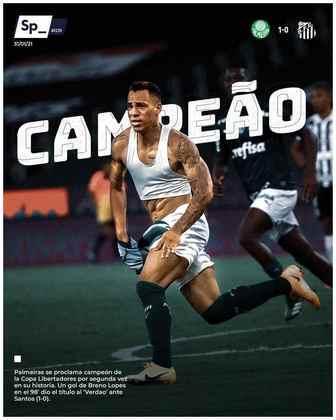 Sphera Sports - Outro diário espanhol destacou o título com a foto do herói Breno Lopes.