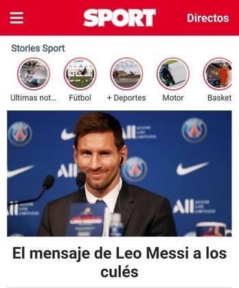 Sport, também da Catalunha, dá ênfase as aspas do ídolo do Barcelona