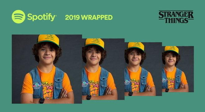 Spotify Wrapped 2019 do Dustin, de Stranger Things