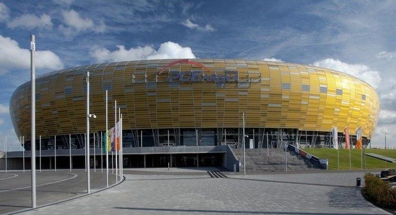 O Stadion Miejski de Gdansk, sede da decisão da Liga Europa