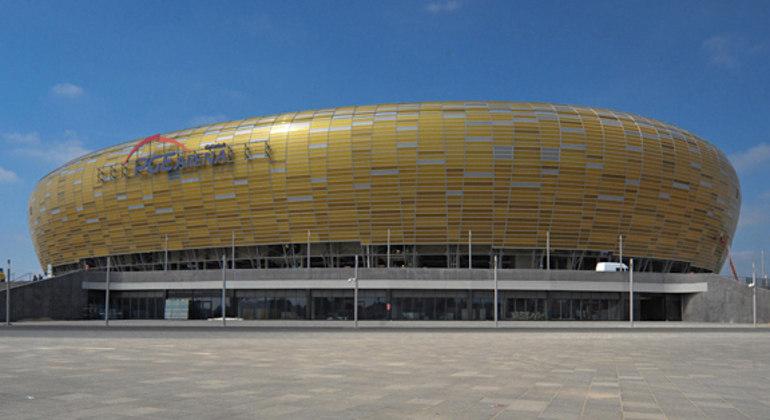 O Stadion Miejski, em Gdansk, na Polônia