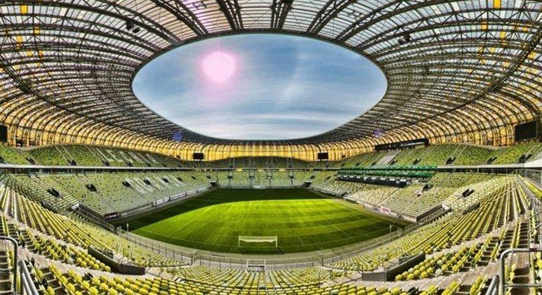 O Stadion Miejski, de Gdansk, na Polônia, palco da decisão