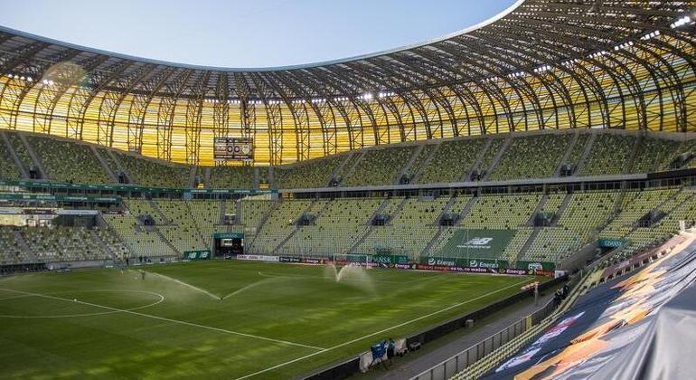 O Stadion Miejski, em Gdansk, Polônia, sede da final da Liga Europa