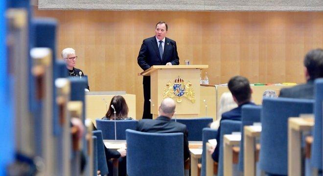 O único político com direito a carro na Suécia é o primeiro-ministro, hoje Stefan Lofven