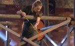 Na primeira parte da disputa, os competidores precisavam utilizar uma vara para pescar cinco chaves que abririam uma gaiola. Além de agilidade, era preciso muita concentração para não derrubar os objetos